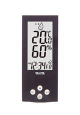 デジタル温湿度計(目覚ましアラーム) パープル