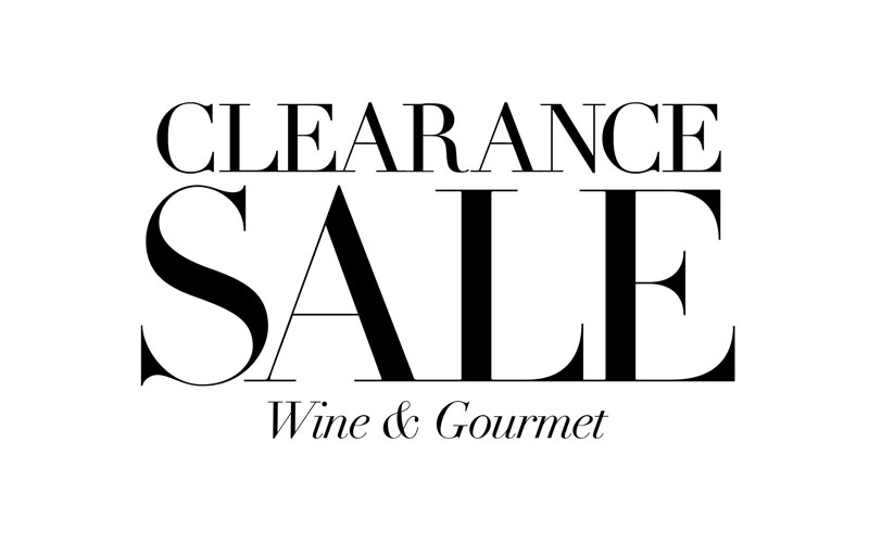 Wine & Gourmet Clearance Sale