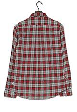 URBAN RESEARCH ビエラチェック起毛ボタンダウンシャツ RED