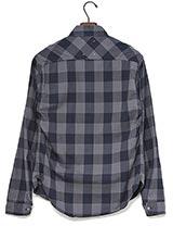 Sonny Label ブロックチェックシャツ ネイビー