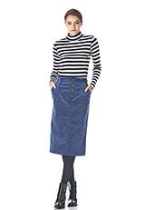 Sonny Label コーデュロイタイトスカート ブルー
