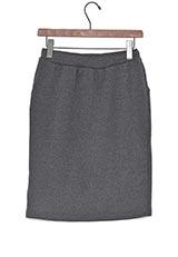 Sonny Label 裏ボアタイトスカート チャコールグレー