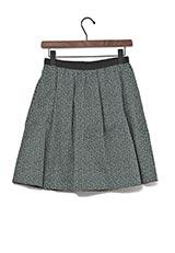 Silverlights ツイードタックギャザースカート GREEN