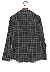 ROSSO コットンネルチェックシャツ NAVY