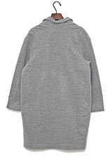 HANNAH BY BEAUMONT ORGANIC ウールコクーンコート LIGHT GREY