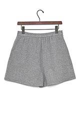 HANNAH BY BEAUMONT ORGANIC ウールギャザーショートパンツ LIGHT GREY