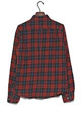 ROSSO ウール混ネルチェックシャツ RED