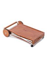 折りたたみ木製ワゴン