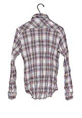 URBAN RESEARCH クリンクルチェックシャツT GREEN