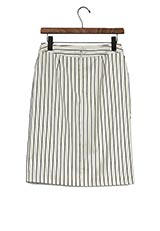 ROSSO ストライプタイトスカート OFF WHITE