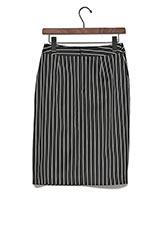 ROSSO ストライプタイトスカート BLACK