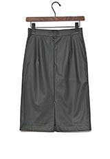 ROSSO レザータイトスカート BLACK