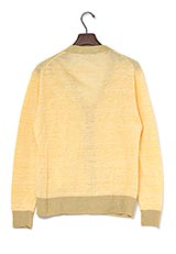 URBAN RESEARCH DOORS Linen V Cardigan 杢Yellow