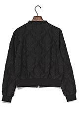 KBF 刺繍ブルゾン BLACK