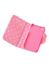 カードホルダー付きiPhone5ケース リトルスポット ピンク