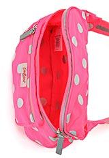 ウエストバッグ ボタンスポット ピンク