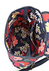 ハンドバッグバッグパック パラダイスフラワ― ネイビー