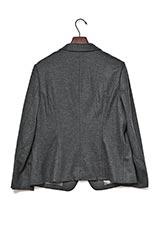 ウールフラノシングルジャケット グレー
