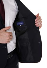 URBAN RESEARCH ウール混シングルジャケットセットアップ BLK/2