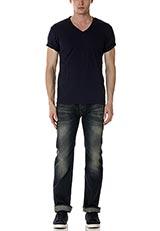 Sonny Label VネックTシャツ ネイビー