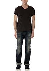 Sonny Label VネックTシャツ チャコール