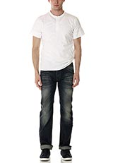 Sonny Label ヘンリーネックTシャツ ホワイト