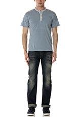 Sonny Label ヘンリーネックTシャツ サックス