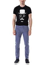 POPFACTORY プリントTシャツ BLK