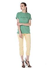 ONE MILE WEAR メッセージプリントTシャツ green