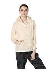 UNIFY コットンナイロンフーデッドジャケット OFF WHITE