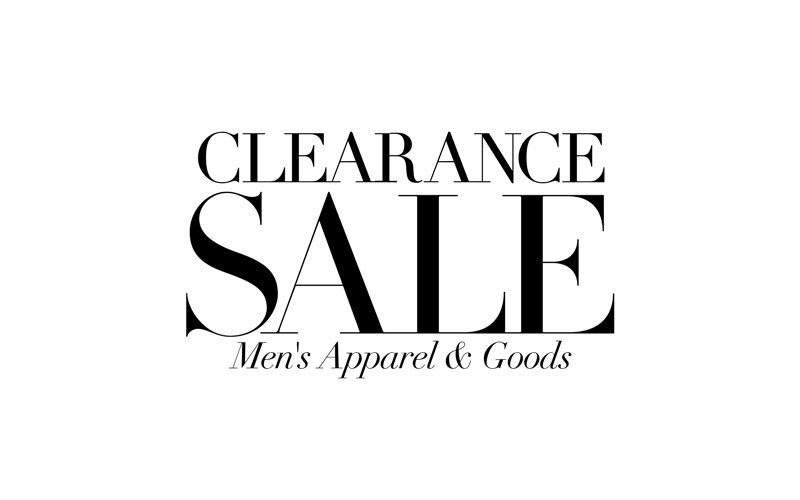 Clearance Men's Apparel & Goods