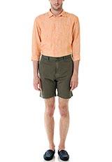 DOORS リネン7分袖シャツ オレンジ