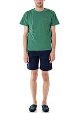 DOORS ピグメントダイ鹿の子ポケットTシャツ グリーン