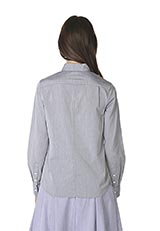 The Virgnia コットンベーシックシャツ グレー