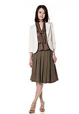 ASPRI ストレッチターンナップカフスジャケット オフホワイト