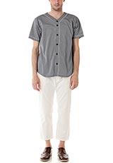 Sonny Label ベースボールシャツ ブラック×ホワイト