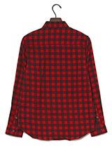 UR warehouse ミニブロックチェックネルシャツ ブラック/レッド