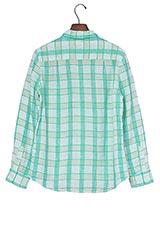 URBAN RESEARCH ヨーロピアンリネンチェックシャツ ミント