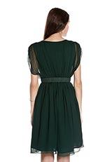 ROSSO シルクギャザードレス グリーン