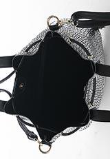 RODE SKO 変形ドローストリングバッグ シルバー