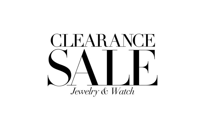 Clearance Jewelry and Watch