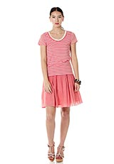 コットンギャザースカート ピンク