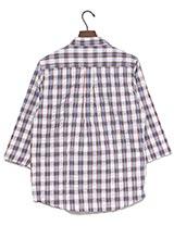 UR warehouse コットンチェックプルオーバーシャツ ブラック