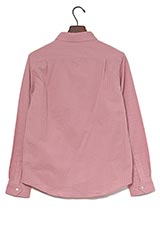 WARE HOUSE ストライプ織レギュラーシャツ ピンク