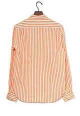 DOORS リネンロングスリーブシャツ オレンジストライプ