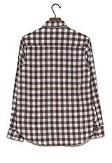 UR warehouse ミニブロックチェックネルシャツ ブラウン/ホワイト