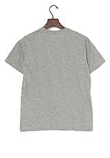UR warehouse コットンクルーネックポケットTシャツ グレー