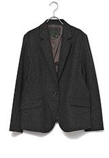 UNTITLED ウールビスコーステーラードシングルジャケット グレー