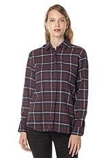 LE TiROiR de DRESSTERIOR コットンチェックシャツ ネイビー
