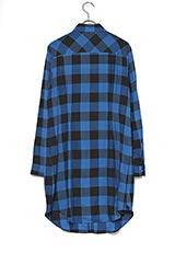 UNTITLED バッファローチェックシャツ ブルー